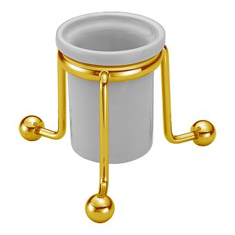 CISAL Arcana Стакан настольный керамический, цвет белый/золото