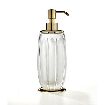 3SC Montblanc Дозатор для жидкого мыла, цвет: прозрачный хрусталь/золото 24к. Lucido