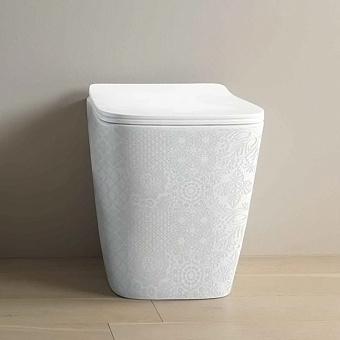 Artceram A16 Унитаз напольный 36х52 см, приставной, безободковый, в комплекте с крепежом, цвет: белый глянцевый