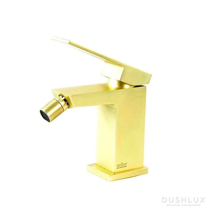 Webert Pegaso Смеситель для биде, с донным клапаном, цвет: матовое золото