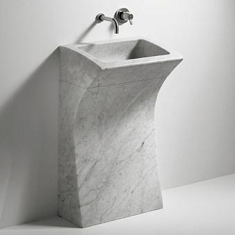 Agape Lito Напольная раковина 55х40х93 см, мрамор Carrara, цвет: белый