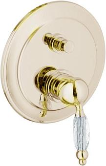 Смеситель для ванны Webert Alexandra AL860101 Золото/кристалл Swarovski