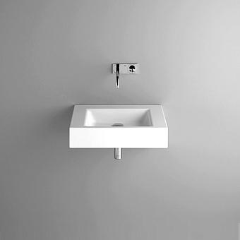 BETTE Aqua Раковина подвесная 60х49.5х12.5 cм, без отв., BetteGlasur® Plus, без перелива, с крепежом, цвет: белый