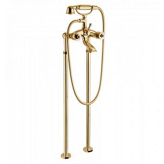 Bongio Impero, Смеситель для ванны, цвет: золото/blue and red swarovski