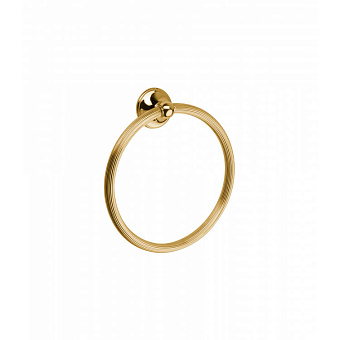 Полотенцедержатель-кольцо Bongio Fleur, подвесной монтаж, цвет: золото 24к.