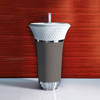 Falper George Раковина напольная 58х58х87 см, выпуск в стену, цвет: светлая глина