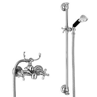 Stella Roma Смеситель для ванны 3267/302/6 со штангой и ручным душем, цвет: хром