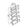 Agape Stairs Полотенцедержатель с пятью полками 60x180 см, цвет: белый