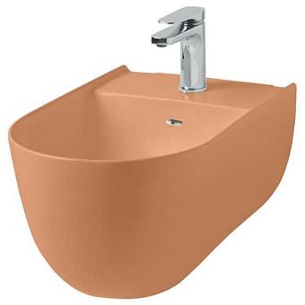Artceram THE ONE Биде подвесное  52х35, с креплениями, с 1 отв под смеситель. цвет arancio cammeo
