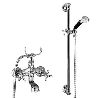 Stella Roma Смеситель для ванны 3274/302/6 со штангой и ручным душем, цвет: хром