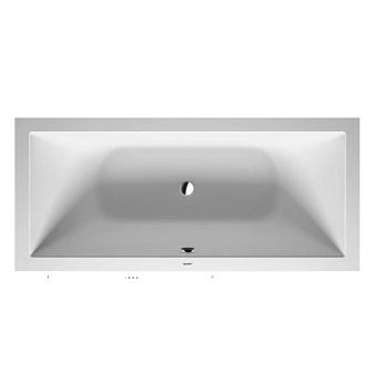 Duravit DuraSquare Ванна прямоугольная  встраиваемая 1800x800мм, с ножками, с2 наклонами для спины, цвет белый