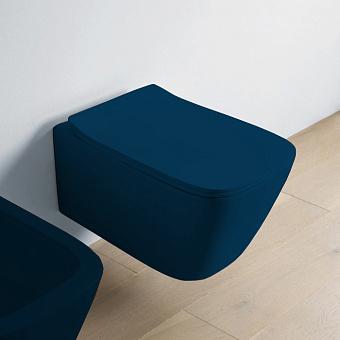 Artceram A16 Унитаз подвесной 36х52 см, Rimless, цвет: blu notte
