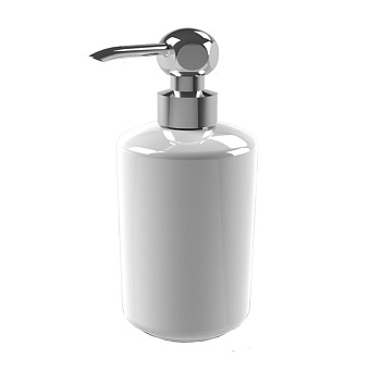 Stella Italica Дозатор для мыла керамический, цвет: хром