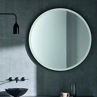 Agape Memory Круглое зеркало c рамкой, цвет: белый