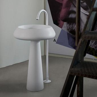 Agape Bjhon 2 Напольная раковина d54.5 см, выпуск в пол, цвет: белый