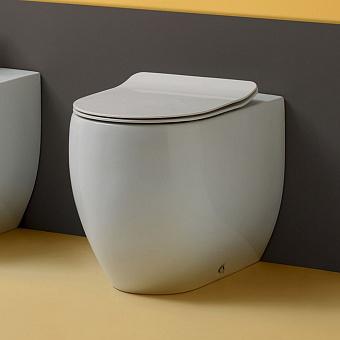 Kerasan Flo унитаз приставной 56см, слив в стену, цвет белый