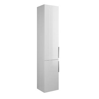 Burgbad Eqio Шкаф высокий 32х35х176см, две двери, петли слева L, 4 стекл полки,1 несъемная полка, цвет: белый глянец