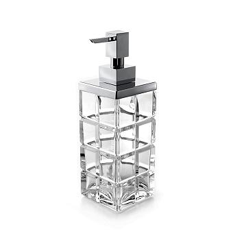 3SC Palace Дозатор для жидкого мыла,  настольный, цвет: прозрачный хрусталь/хром