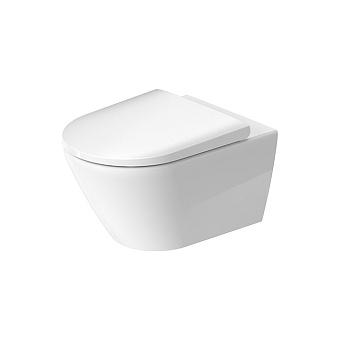 Duravit D-Neo Унитаз подвесной 37x54 см, безободковый, в комплекте с сиденьем 0021690000, цвет: белый