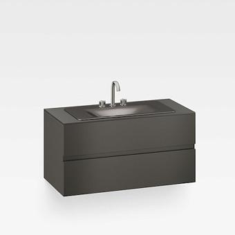 Armani Roca Baia Тумба подвесная с раковиной, 120х59х61см с 2 ящиками, со столешницей, цвет: черный
