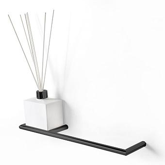 3SC Guy Полотенцедержатель и ароматический диффузор слева, подвесной, композит Solid Surface, цвет: белый матовый/черный матовый