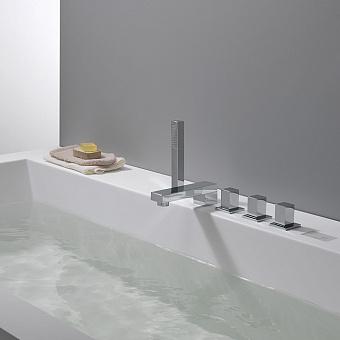 Cristina Quadri Смеситель на борт ванны, 5 отв., цвет: хром