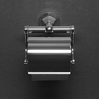 Cristal et Bronze Charlety держатель для туалетной бумаги с крышкой, цвет: хром