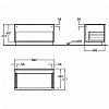 Geberit iCon Подвесной шкафчик с одним выдвижным ящиком, напольный 89х47.2х47.7см, натуральный дуб/меламин