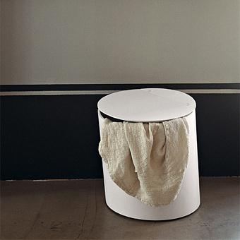 Agape Basket Круглая корзина из дерева d40x48 см, цвет: белый