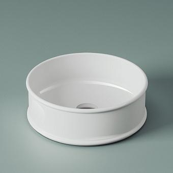 Artceram Atelier Раковина 44 см, без отв., накладная, без перелива, цвет: белый