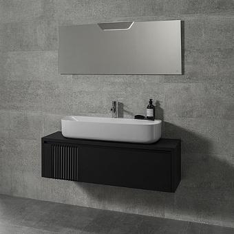 Noken Arquitect Комплект подвесной мебели: тумба, зеркало, бра, раковина, смеситель, донный клапан, сифон, цвет: черный