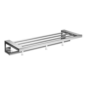 Emco Loft Полка для полотенец с п/держателем и 3 крючками, 600mm, цвет: хром
