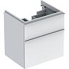 Geberit iCon Тумба с раковиной 59.5х62х47.7см, с 1 отв., подвесная, с двумя выдвижными ящиками, цвет: белый