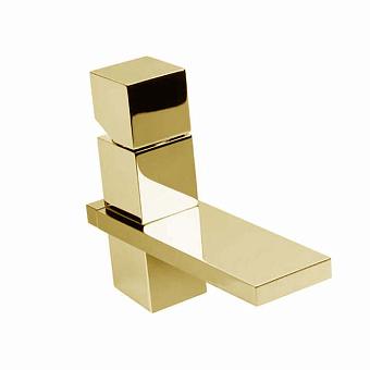"""Bossini Cube Смеситель для раковины на 1 отв., c заглушкой 1""""1/4, цвет: золото"""