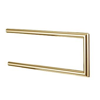 3SC Guy Полотенцедержатель двойной, неповоротный, плечо 30см, цвет: золото 24к. Lucido