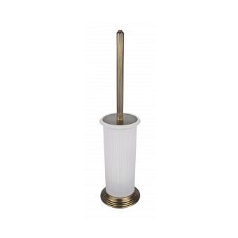 Colombo Hermitage, Туалетный ершик с колбой, напольный 43.5см, Цвет: античная бронза/матовое стекло