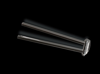 StilHaus Urania Полотенцедержатель двойной поворотный, цвет: черный матовый