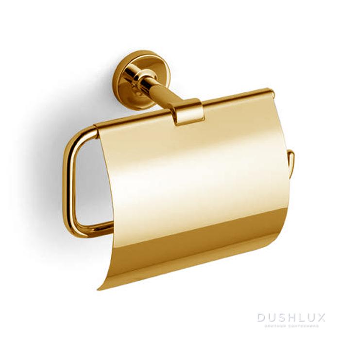 Bertocci Cinquecento Держатель для туалетной бумаги с крышкой, цвет: золото
