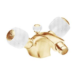 Cristal et Bronze Millesime Смеситель для биде, цвет золото 24 к./сатинированное стекло