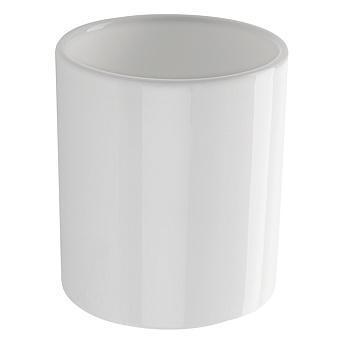 StilHaus Bucket Настольный стакан , цвет: хром/белая керамика