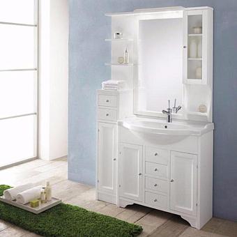 EBAN Eleonora Modular Комплект мебели (пенал слева), 107см, цвет: bianco decape
