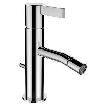 Laufen Kartell Смеситель для биде, на 1 отв, с донным клапаном, излив 110 мм, цвет: нержавеющая сталь (PVD)Kartell [5558]