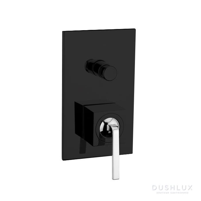 Смеситель для ванны Webert Wolo WO860101 Черный матовый с ручкой хром