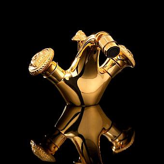 Devon&Devon Excelsior Swan Смеситель для биде на одно отверстие, цвет: золото 24к