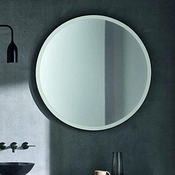 Agape Memory Круглое зеркало c рамкой, и внутренней LED подсветкой, цвет: белый