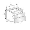 Keuco Edition 400 Комплект мебели 70х53.5х54.6 см, дуб