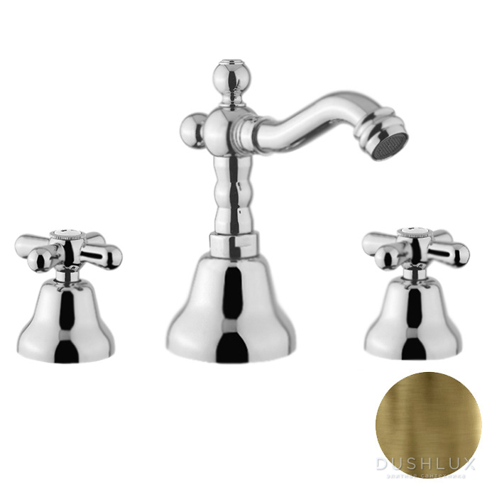 Webert Armony Смеситель для биде, 3 отв., с донным клапаном, цвет: бронза