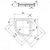 Kaldewei Arrondo, душевой поддон, материал сталь-эмаль, диаметр слива 90 мм, полистироловая подушка, 900х900х65 мм (необходимо доукомплектовать сифоном), Цвет: белый