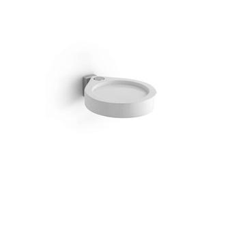 Bertocci Freeze Мыльница подвесная, цвет белый матовый композит/хром