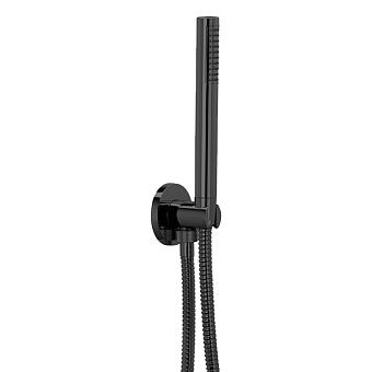 Bongio Pure Glam Ручной душ с гибким шлангом 1500 мм, цвет: черный матовый